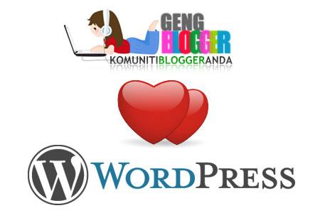 GengBlogger Sayang WordPress