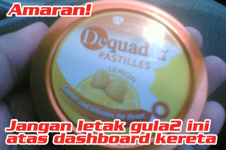 Amaran! Jangan Letak Gula-Gula Atas Dashboard Kereta