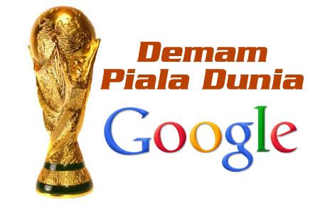 Google dah demam Piala Dunia