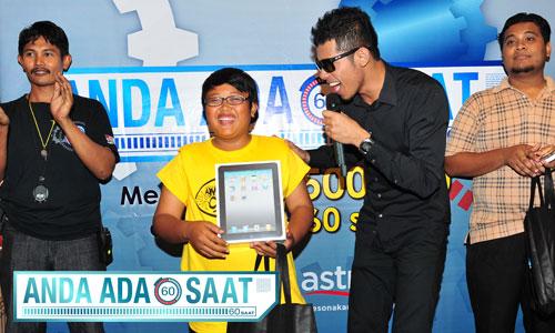 Anda Ada 60 Saat - Mohd Farhan menang iPad!