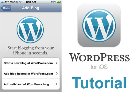 Tutorial: WordPress for iOS - Live Blogging Sebanar