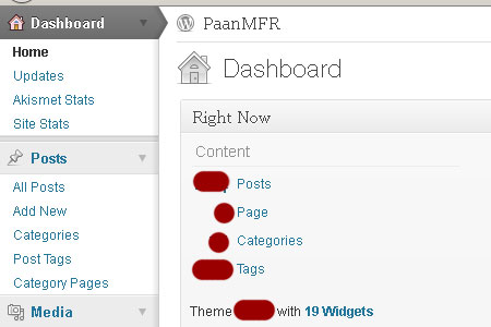 Wordless Wednesday #1 - WP New Dashboard